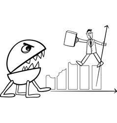 Recession in business cartoon vector