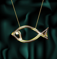 jewelry fish vector image