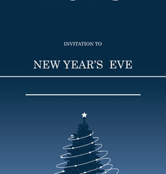 Invitation to celebrate the new year on a blue vector