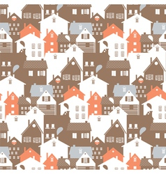 Megalopolis seamless pattern vector