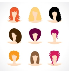 Womens hairstyles vector