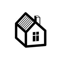 Simple mansion icon isolated on white background vector