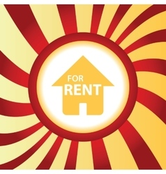 For rent abstract icon vector