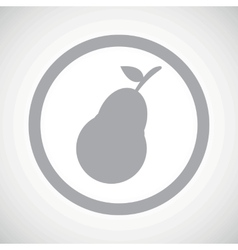 Grey pear sign icon vector
