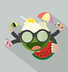 Summer Icon Flat Design vector image