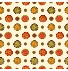 Spiral brown green orange spots berries seamless vector