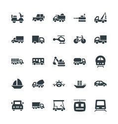 Transport cool icons 2 vector