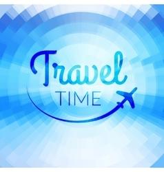 Summer travel design blurred pixelate sea beach vector