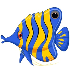 Angel fish cartoon vector