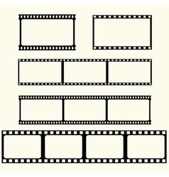 Film tape set vector