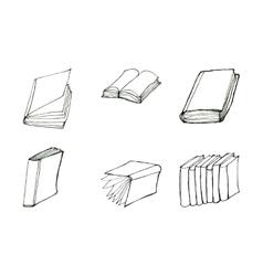 Book doodles set vector image