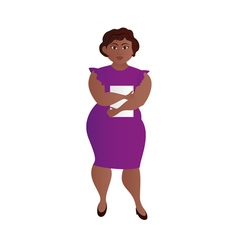 Business fat girl two vector