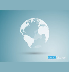 earth on blue background vector image