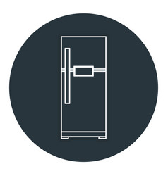 Fridge appliance isolated icon vector