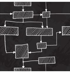 Hand draw flowchart seamless background vector