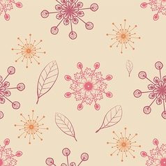 hand draw seamless pattern with snow flakes and vector image vector image