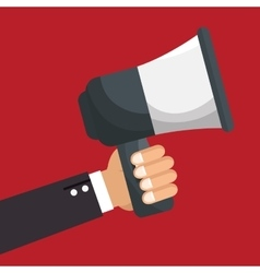 Hand human with megaphone vector
