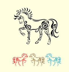 Horse decorative vector