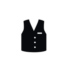 Isolated vest icon waistcoat element can vector
