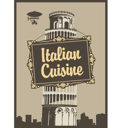 Italian Cuisine vector image vector image