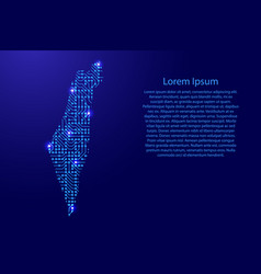 Map israel from printed board chip and radio vector