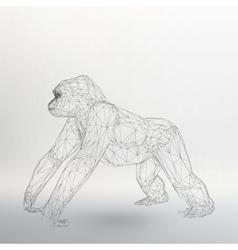 Monkey symbol year 2016 vector image