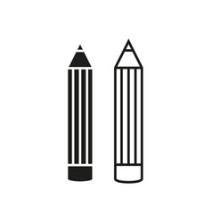 pencils online icons vector image