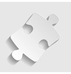 Puzzle piece flat icon vector