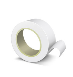 Realistic template blank white adhesive roll tape vector