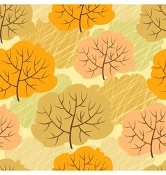 Seamless pattern with autumn trees vector image vector image