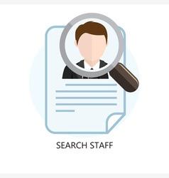 Search staff icon concept vector