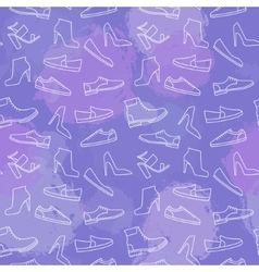 Shoes line icon seamless pattern vector image vector image