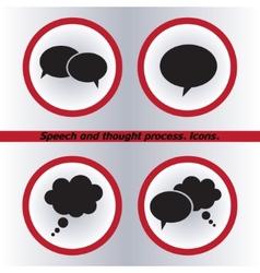 Speech bubble icons black icon Flat design style vector image
