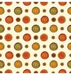 Spiral brown green orange spots berries seamless vector