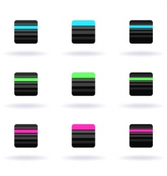 striped icons vector image vector image