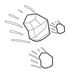 Throwing stones icon outline vector