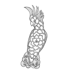 Zentangle stylized cockatoo vector