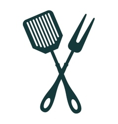 Tool cutlery silhouette icon vector