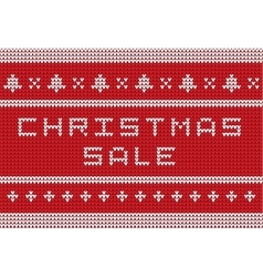 Christmas knitted sweater style sale banner vector