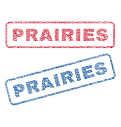 Prairies textile stamps vector