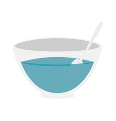 Spa dish isolated icon vector