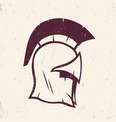 Spartan helmet logo element vector