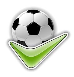 football all right vector image