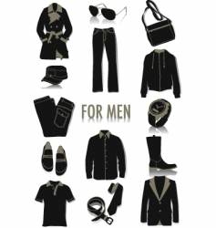 men's fashion vector image
