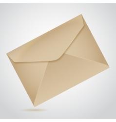 Envelope of brown paper vector
