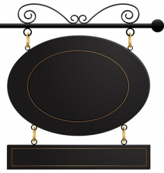 Black cafe sign vector