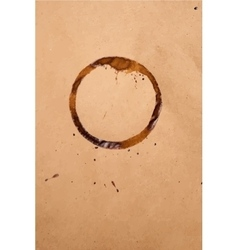 Brown paper with coffee stain vector