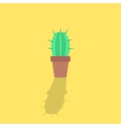 Cactus icon with shadow vector