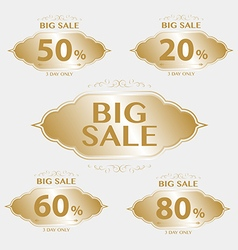 Vintage frame big sale tags with badges and labels vector