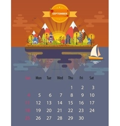 Calendar of september vector